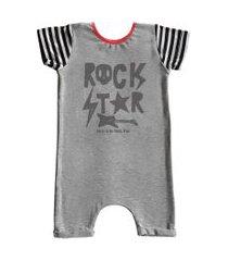 macacão curto comfy rock star cinza
