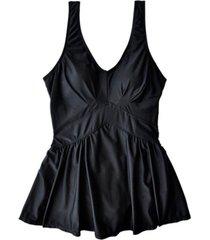 traje de baño estilo falda larga negro samia