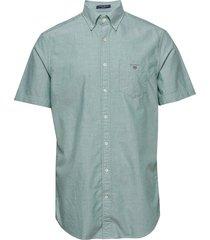 reg oxford shirt ss bd kortärmad skjorta grön gant