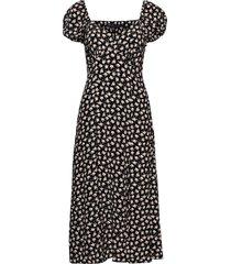 aura drape midi dress knälång klänning svart french connection