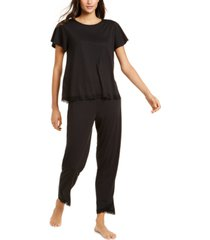 charter club lace-trim pajamas set, created for macy's