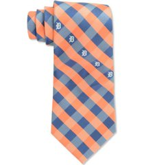 eagles wings detroit tigers checked tie