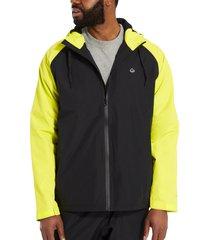 wolverine men's i-90 rain jacket hivis green, size xxl