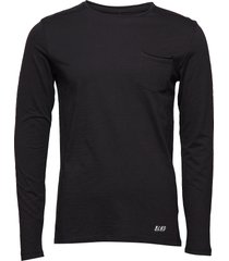 bhnicolai tee l.s. noos t-shirts long-sleeved svart blend