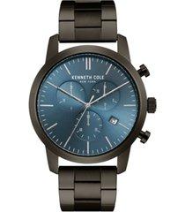 kenneth cole new york men's chronograph gunmetal stainless steel bracelet watch 44mm