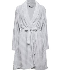 decoy short robe w/stripes morgonrock grå decoy