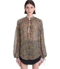 blouse in animalier viscose