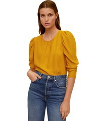 blusa amarillo mng