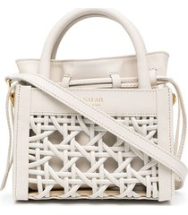 salar bella braid tote bag - white