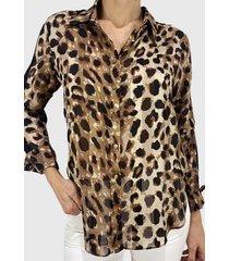 blusa estampado leopardo beige liola