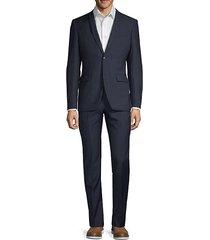slim fit wool blend suit