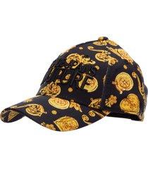 versace jeans couture logo baroque baseball cap