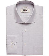 joseph abboud gray check modern fit dress shirt