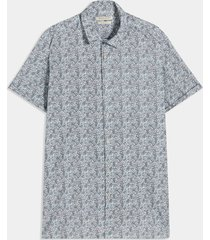 camisa azul-multicolor seven seven