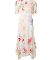 peter pilotto floral print handkerchief dress - multicolour