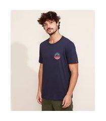 "camiseta masculina suncoast"" manga curta gola careca azul marinho"""