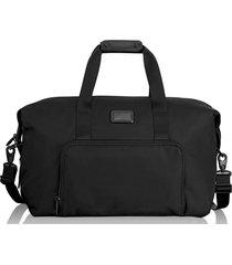 bolsa unissex satchel com dupla expansão - preto