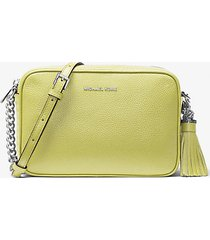 mk borsa a tracolla ginny in pelle - limelight - michael kors