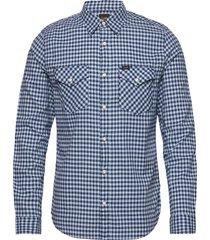clean western shirt skjorta casual blå lee jeans
