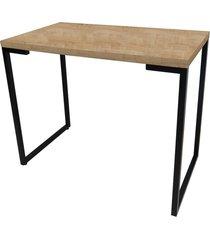 mesa para computador escrivaninha porto 120cm natura - fit mobel