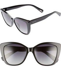 women's diff ruby 54mm polarized sunglasses - black/ grey