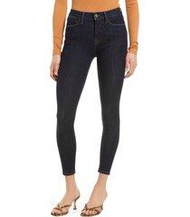 women's frame 24-hour high waist crop skinny jeans, size 28 - blue