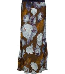 3390 - lena/l lång kjol multi/mönstrad sand
