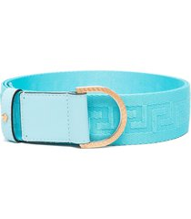 versace greca ribbon belt - blue