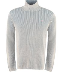 tommy jeans ribbed turtleneck sweater