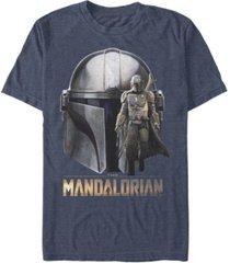fifth sun men's star wars mandalorian mando head short sleeve t-shirt