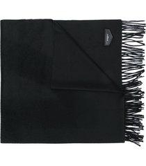 givenchy logo plaque tassel scarf - black