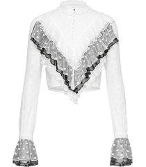 mila blouse blouse lange mouwen wit birgitte herskind