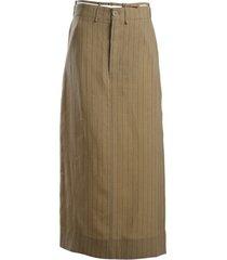 la jupe pinstripe maxi skirt