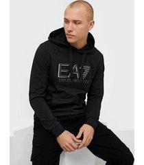 ea7 emporio armani train visibility m hoodie rn coft tröjor black