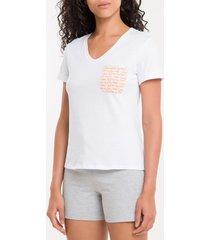 camiseta de algodão - branco 2 - l
