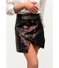 falda mini psico brown cafe lorenza bas