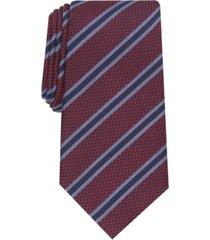tasso elba men's stripe slim tie, created for macy's
