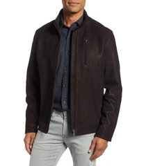 men's rodd & gunn westhaven distressed leather bomber jacket