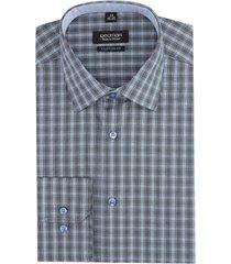 koszula bexley 2240 długi rękaw custom fit niebieski