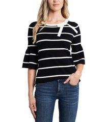 cece striped bow-neck sweater