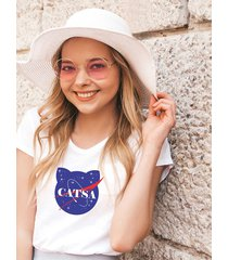 koszulka biała damska organiczna catsa