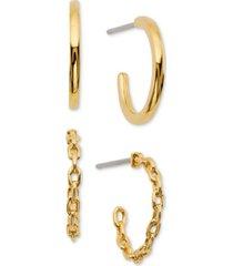 ava nadri 2-pc. set braided & polished hoop earrings