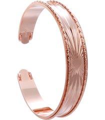 bracciale bangle raggi in bronzo rosato per donna