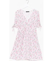 womens floral relaxed mini dress - pink