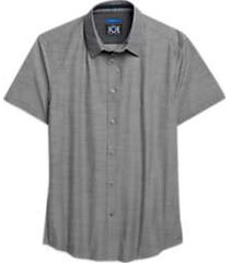 joe joseph abboud repreve® gray dot short sleeve sport shirt