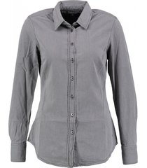 tommy hilfiger grijze denim blouse valt kleiner