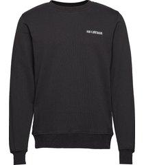 casual crew sweat-shirt trui zwart han kjøbenhavn