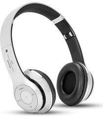 audífonos bluetooth, s460 auricular inalámbrico audifonos bluetooth manos libres  música audio estéreo plegable manos libres auriculares tarjeta de tf con micrófono (plata)