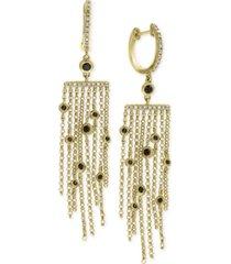 effy diamond fringe drop earrings (3/8 ct. t.w.) in 14k gold