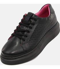 tênis moda casual feminino de griffe up conforto preto